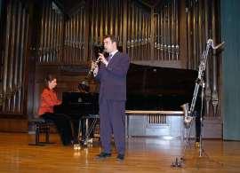 Dúo Rúbens, Ana Benavides y Pedro Rubio. Concierto El clarinete en España , 2005