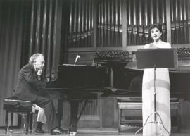 María Aragón y Miguel Zanetti. Concierto La canción en Castilla - Canción española del siglo XX , 1986