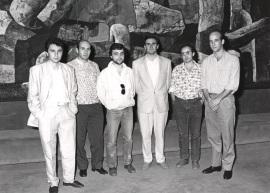 Roberto Mosquera, José Luis de la Fuente, Ernest Martínez, César Cano, Agustín Charles Soler y Esteban Sanz Vélez. Concierto Tribuna de jóvenes compositores , 1986