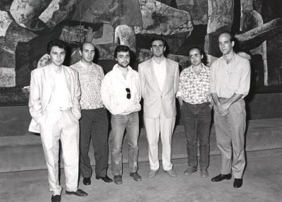 Roberto Mosquera, José Luis de la Fuente, Ernest Martínez, César Cano, Agustín Charles Soler y Esteban Sanz Vélez. Concierto Tribuna de jóvenes compositores