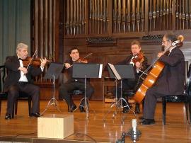 Levon Melikian, Zorik Tatevosyan, Sergey Savrov y Serguei Mesropian. Concierto Música de cámara armenia , 2007