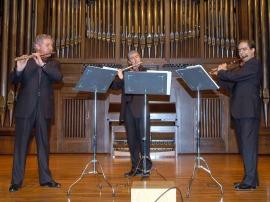Antonio Arias Gago Gago, Miguel Ángel Angulo y José Oliver. Concierto La flauta en trío , 2007