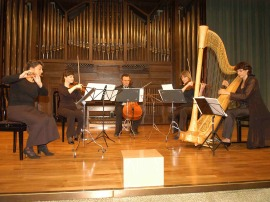 String Trío, Michael Granados y María Antonia Rodríguez. Concierto En recuerdo a Nicanor Zabaleta , 2007