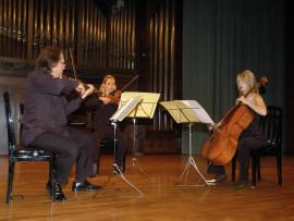 Trío Voirin, Serguei Teslia, Raluca Berbec y Cecilia de Montserrat. Concierto Tríos de cuerda , 2008