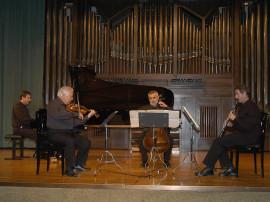 Carlos Casadó, Salvador Puig, Enrique Ferrández y Gerardo López Laguna. Concierto Messiaen en su centenario , 2008