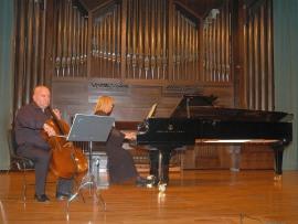 Dimitar Furnadjiev y Lydia Rendón. Concierto Música eslava , 2008