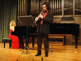 Pedro Garbajosa y Mariana Gurkova. Concierto El clarinete en el clasicismo , 2009
