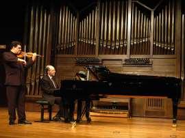 Joaquín Torre y Kennedy Moretti. Concierto Sonatas para violín y piano , 2009