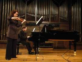Ana Francisca Comesaña y Duncan Gifford. Concierto Sonatas para violín y piano, 2009
