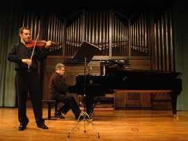 Alejandro Saiz y Juan Carlos Martínez. Concierto Sonatas para violín y piano , 2009