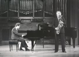 Agustín Serrano y Pedro Iturralde. Recitales para Jóvenes, 1986