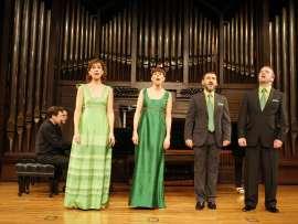 Cuarteto vocal Cavatina, Mercedes Lario, Marta Knörr, Felipe Nieto, José Bernardo Álvarez, Duncan Gifford y Aurelio Viribay. Concierto A cuatro voces , 2011