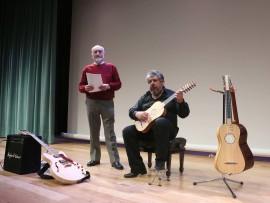 Pepe Rey y Gerardo Arriaga. Concierto Cuadros que suenan: de la vihuela a la guitarra eléctrica - Conciertos en familia , 2012