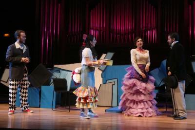 María Rodríguez, Julio Morales, Paula Iwasaki, Raúl Novillo y Celsa Tamayo. Concierto La zarzuela en un acto: música representada - Conciertos en familia