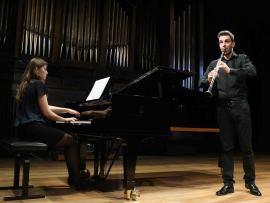 Daría Piltiay y Iñaki Vermeersch. Concierto Recital de clarinete y piano , 2014