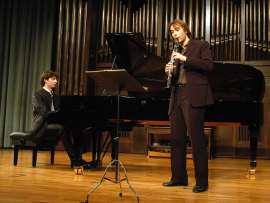 Tommaso Lonquich y Martín Martín Acevedo. Concierto Recital de clarinete y piano , 2009