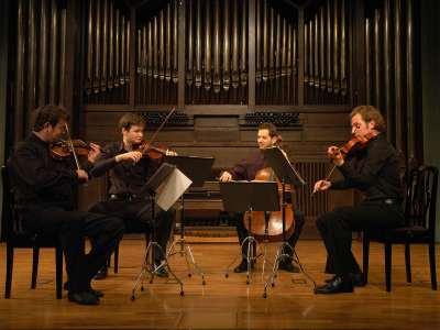 Cuarteto Acies, Benjamín Ziervogel, Raphael Kasprian, Manfred Plessl y Thomas Wiesflecker. Concierto Recital de música de cámara