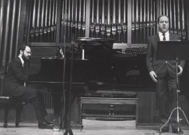 Sebastián Mariné y Luis Álvarez. Concierto Canciones y romanzas de salón , 1989