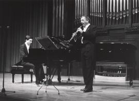 Gerardo López Laguna y Miguel Quirós. Concierto El viento en la música francesa , 1989