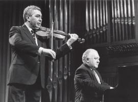 Víctor Martín y Miguel Zanetti. Concierto Violín moderno español , 1989