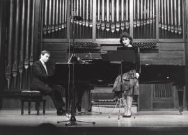 Fernando Turina y María Aragón. Concierto El recuerdo de la infancia , 1989