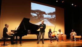 Conjunto de percusión africana, Alberto Rosado y Polo Vallejo. Concierto Polirritmias. Ligeti africano - Popular y culta: la huella del folclore , 2015