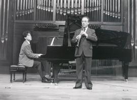 Máximo Muñoz y Diego Cayuelas. Concierto Alrededor del clarinete (1990) , 1990