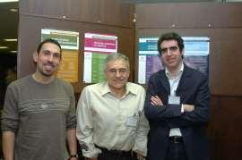 Víctor G. Corces, Tony Kouzarides y Manel Esteller. Conferencia Epigenetics and Chromatin: Transcriptional Regulation and Beyond, 2005