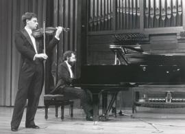 Juan Llinares y Josep Colom. Concierto César Franck , 1990