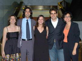 Amparo González, Alfonso Egea de Haro, Sandra León, Ferrán Martínez y Teresa Martín. Entrega diplomas de Maestros y Doctores del CEACS, 2006