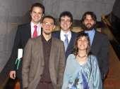 Albert Falcó Gimeno, Pablo A. Fernández Vázquez, Ignacio Jurado Nebreda, Raúl Gómez Martínez y Julia Cordero Coma. Entrega diplomas de Maestros y Doctores del CEACS, 2008