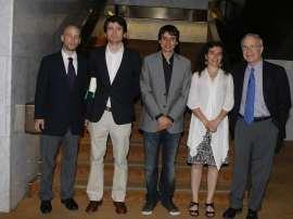 Javier Alcalde, Luis de la   Calle, Lluis Orriols, Laia Balcells y José María Maravall. Entrega diplomas de Maestros y Doctores del CEACS, 2010