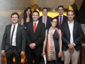 Irene Menéndez, Sebastián Lavezzolo, Juan Antonio Mayoral, Pablo A. Fernández Vázquez, Jan Guijarro, Marta Séiz y Francesc Amat Maltas. Entrega diplomas de Maestros y Doctores del CEACS, 2015
