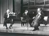 Pedro León, Joaquín Soriano y Pedro Corostola. Concierto Mendelssohn: música de cámara (1990)
