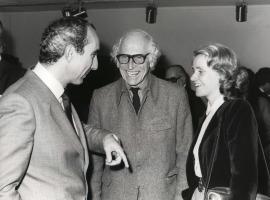 José Luis Yuste Grijalba, Harry Holtzman y Soledad Becerril. Exposición Piet Mondrian Óleos, acuarelas y dibujos, 1982