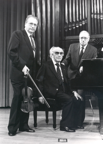 Agustín León Ara, Joaquín Rodrigo y José Tordesillas. Concierto Joaquín Rodrigo y su época
