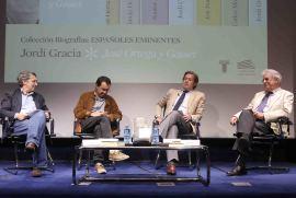 Andrés Trapiello, Jordi Gracia, Javier Gomá Lanzón y Santos Juliá. Presentación del libro Españoles Eminentes. José Ortega y Gasset de Jordi Gracia, 2014