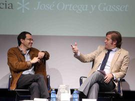 Jordi Gracia y Javier Gomá Lanzón. Presentación del libro Españoles Eminentes. José Ortega y Gasset de Jordi Gracia, 2014