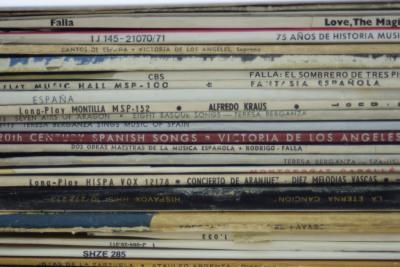 Colección de vinilos de la Biblioteca de Música