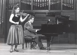 Anabel García del Castillo y Agustín Serrano. Recital de violín y piano , 1991