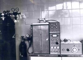 Cromatógrafo de gases. Instituto Provincial de Bioquímica Clínica, de Barcelona, 1971