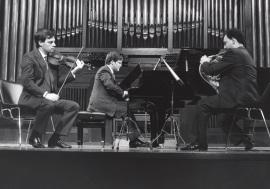 Juan Llinares, Javier Bonet y Aníbal Bañados. Concierto Tres tríos , 1991