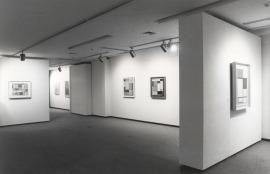 Vista parcial de la exposición Piet Mondrian Óleos, acuarelas y dibujos, 1982