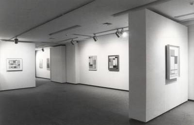Vista parcial de la exposición Piet Mondrian Óleos, acuarelas y dibujos