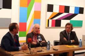 Manuel Fontán del Junco, Jacob Bill y Javier Gomá Lanzón. Rueda de prensa inuguración Exposición Max Bill, 2015
