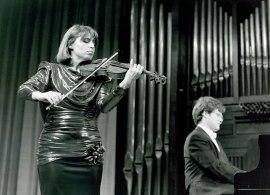 Ana Baget y Aníbal Bañados. Concierto Variaciones , 1991