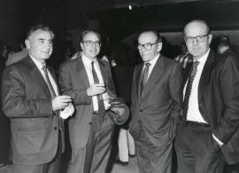 Alfredo Lafita, Pedro Cerezo, Jaime Prohens y Enrique Piñel en la presentación del libro
