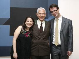 Inmaculada Serrano, Paulino Martín y Álvaro Martínez. Entrega diplomas de Maestros y Doctores del CEACS , 2011