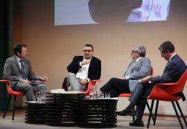 Juan Antonio Ortega e Ignacio Sánchez-Cuenca entrevistados por Antonio San José e Íñigo Alfonso. La Transición española. , 2015