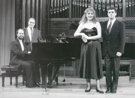 Sebastián Mariné, Ramón Barce, Mª José Sánchez y Ricardo Muñiz. Concierto Con motivo de la edición del Catálogo de Libretos españoles del S. XIX - [Concierto especial 34] , 1991
